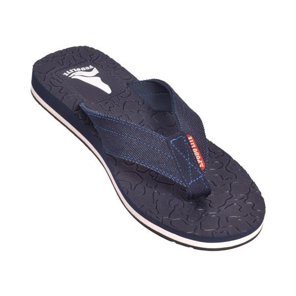 Podolite Men's Denim MCP Flip Flop and House Slippers (Blue, 9) 1 Pair