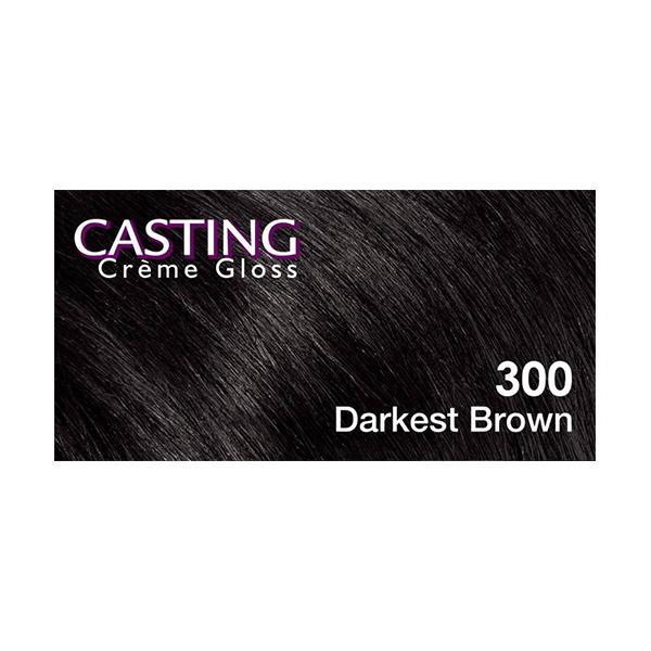 Loreal Paris Casting Cream Gloss - 300 Darkest Brown (87.5 gm + 72 ml)