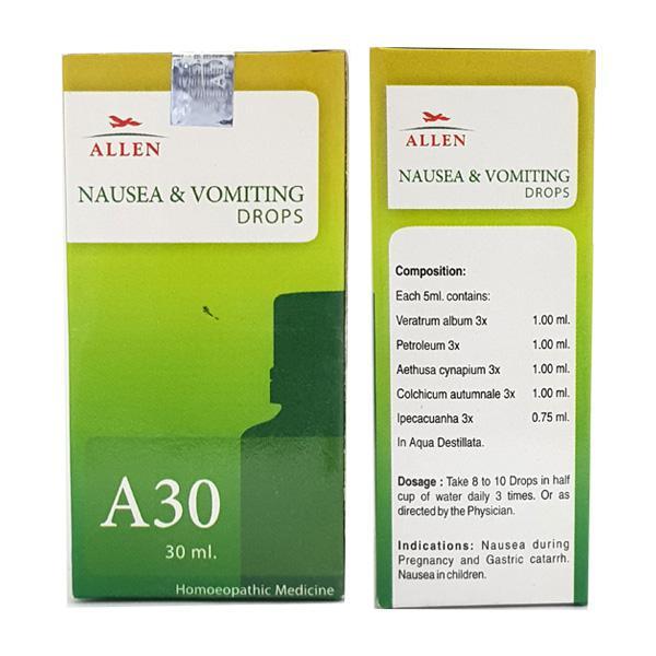 Allen A30 Nausea & Vomiting Drops 30 ml