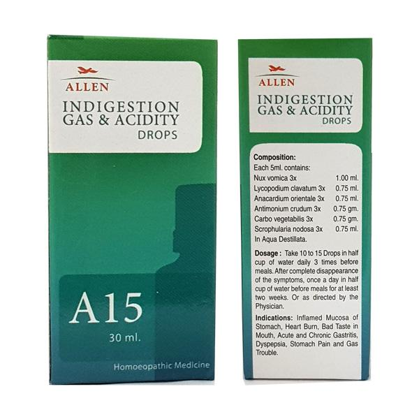 Allen A15 Indigestion Gas & Acidity Drops 30 ml