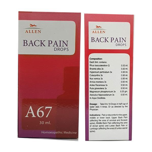 Allen A67 Back Pain Drops 30 ml
