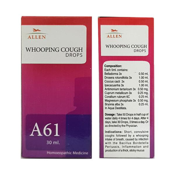 Allen A61 Whooping Cough Drops 30 ml