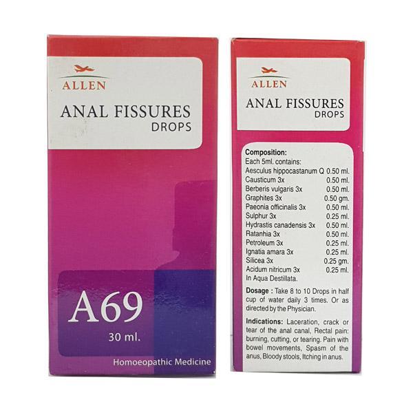 Allen A69 Anal Fissures Drops 30 ml