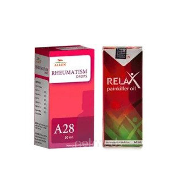 Allen Joint Care Combo Pack (A28 + Relax Pain Killer Oil)