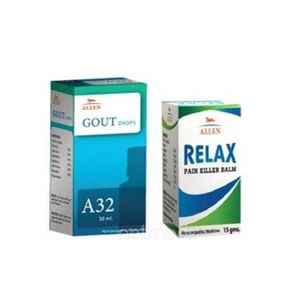Allen Anti Gout Combo Pack (A32 + Relax Pain Killer Balm)
