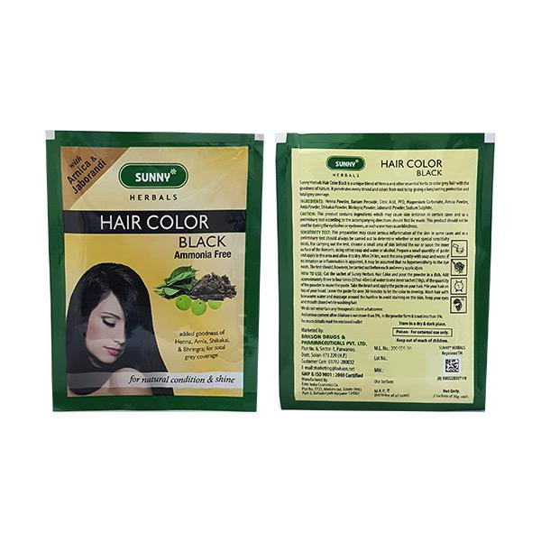 Bakson's Hair Colour Powder - Black 240 gm 12's