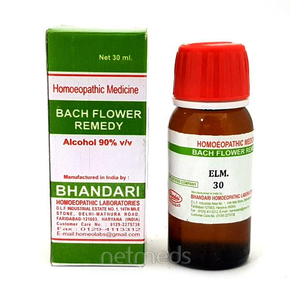 Bhandari Bach Flower Elm 30 Liquid 30 ml