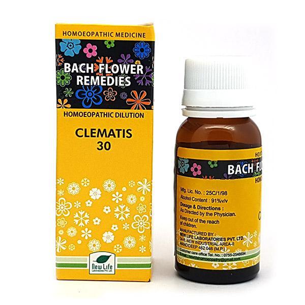 New Life Bach Flower Clematis 30 Liquid 30 ml