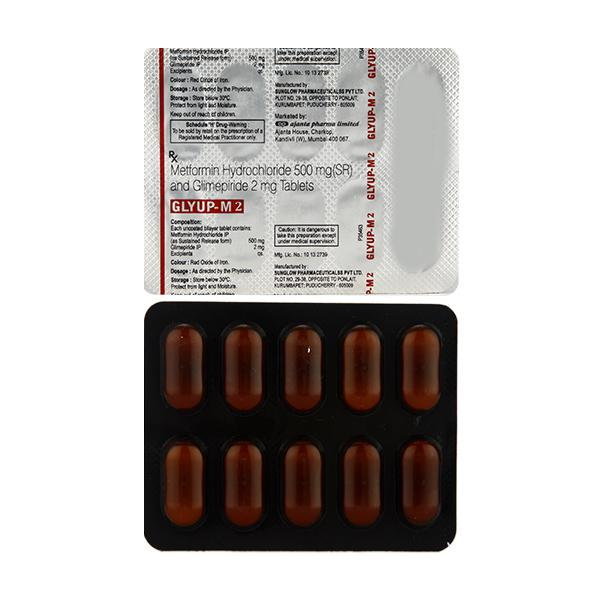 Glyup M 2mg Tablet 10'S