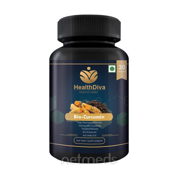 HealthDiva Bio-Curcumin with Piperine Capsules 30's