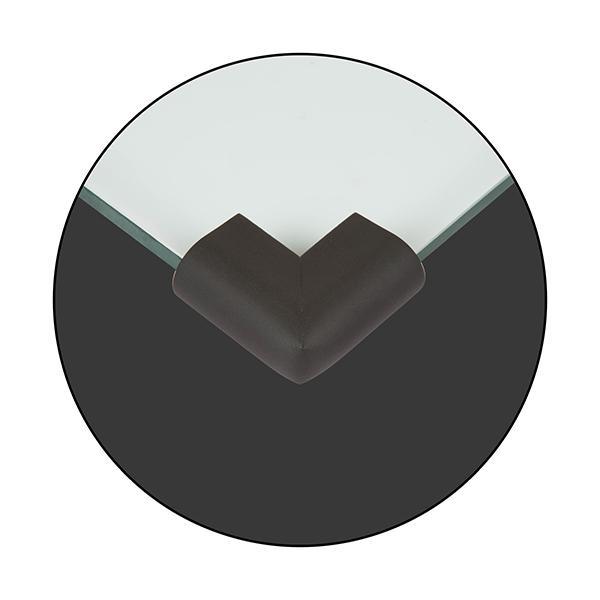 Baby Safety Inc Safe-O-Kid - High Qualityhigh Density U Shaped Nbr Corner Cushions - Black (Pack of 4)
