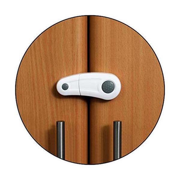 Baby Safety Inc Safe-O-Kid - High Quality, Durable, Elegant Child Safety Cabinet Lock - White