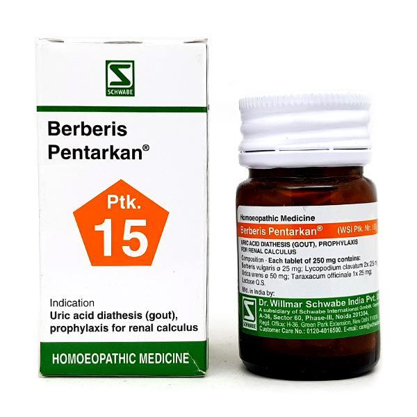 Dr. Willmar Schwabe Berberis Pentarkan 1X Tablet 20 gm
