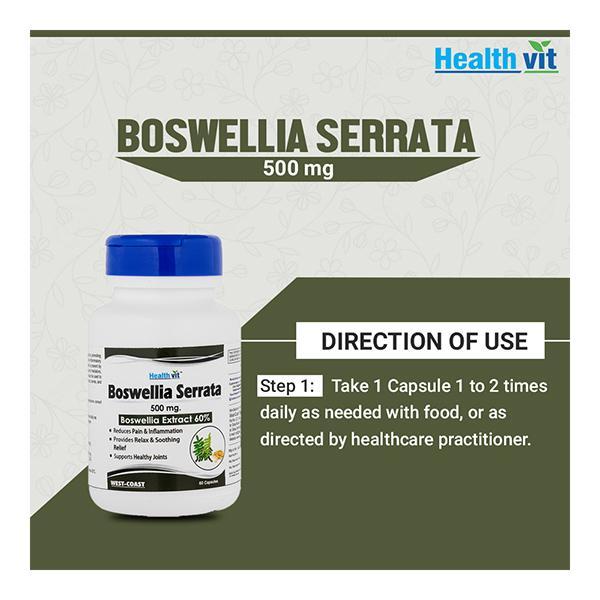 HealthVit Boswellia Serrata 500 mg Capsule 60's