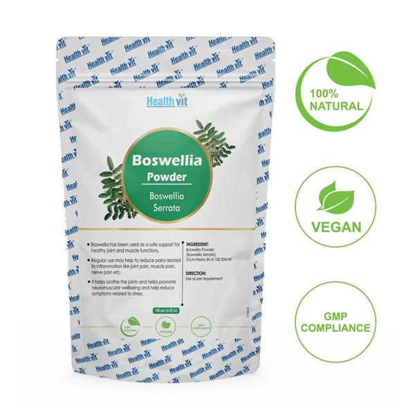 HealthVit Natural Boswellia (Boswellia Serrata) Powder 100 gm