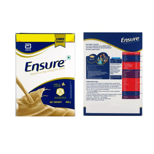 Ensure Nutritional Powder - Vanilla Flavour 400 gm (Refill Pack)