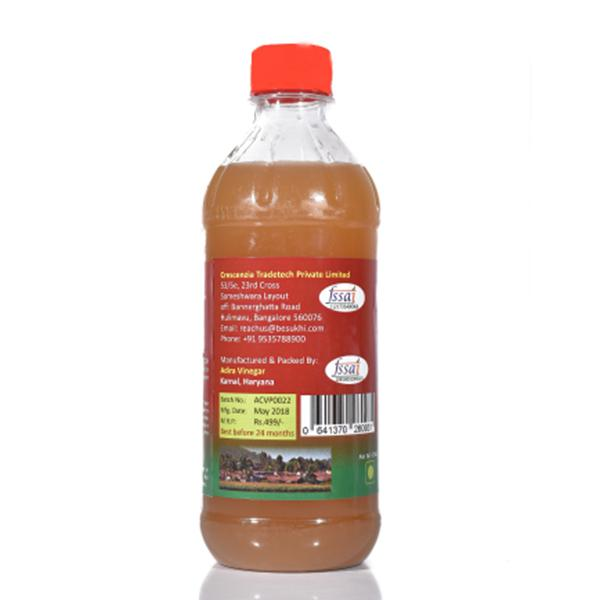 Zoe Apple Cider Vinegar Unfiltered Unpasteurized with Mother From Original Apple Juice 500 ml
