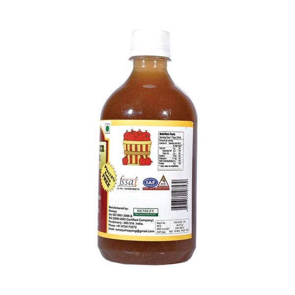 Adira Prime Organic Apple Cider Vinegar, Unpasteurized, Unfiltered 473 ml