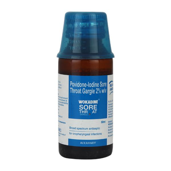 Wokadine Sore Throat Gargle 50ml