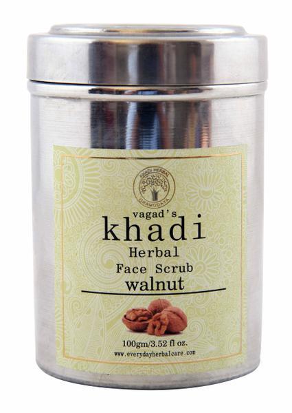 Vagad's Khadi Herbal Face Scrub - Walnut 100 gm