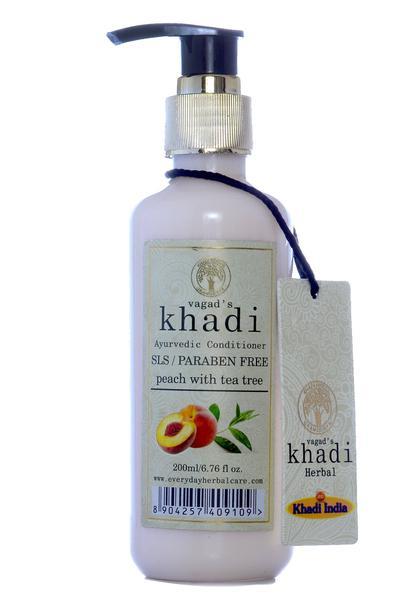 Vagad's Khadi Ayurvedic Conditioner - Peach with Tea Tree (S.L.S and Paraben Free) 200 ml
