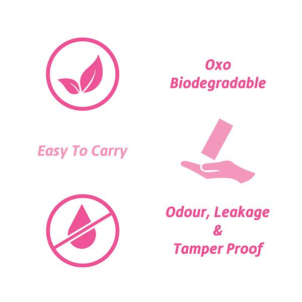 Sannap Sanitary Napkin and Intimate Disposable Bags-120's
