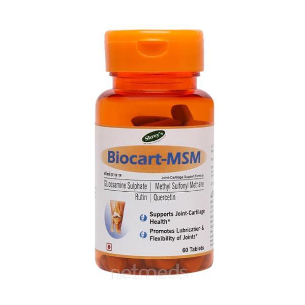 Shrey's Biocart-MSM Tablet 60's