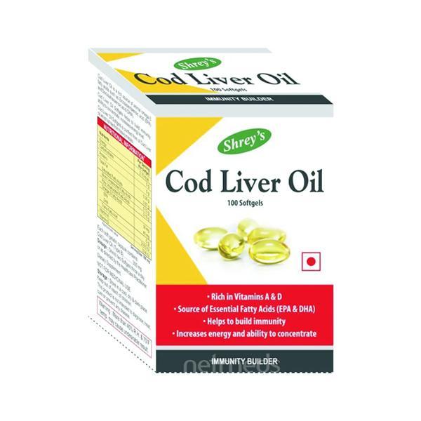 Shreys Cod Liver Oil for Immunity & Heart Health 100's