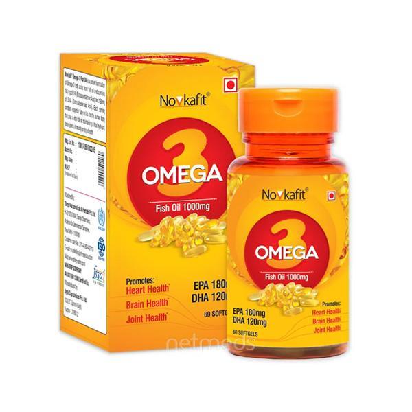 Novkafit Omega-3 Fish Oil 1000 mg Softgel 60's