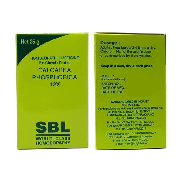 SBL Calcarea Phosphorica 12X Tablet 25 gm