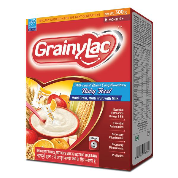 Grainylac (6+ Months) Multi Grain Multi Fruit with Milk Powder 300 gm