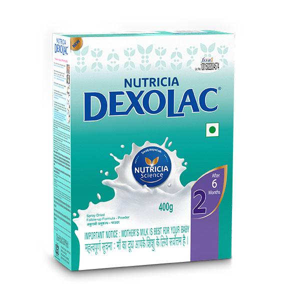 Dexolac Stage 2 (After 6 Months) Powder 400 gm (Refill Pack)