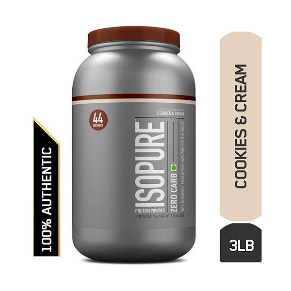 Isopure Zero Carb 100% Whey Protein Isolate Powder - Cookies & Cream 7.5 lb