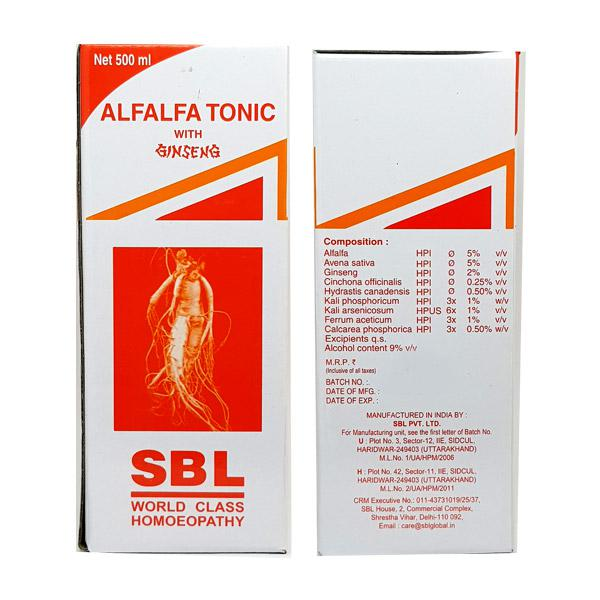 SBL Alfalfa Tonic With Ginseng 500 ml