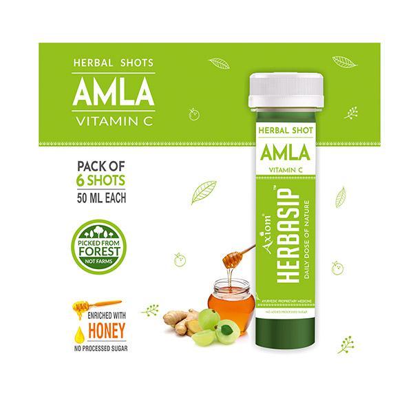 Axiom Herbasip Amla Juice Shots (Pack of 6 X 50 ml)