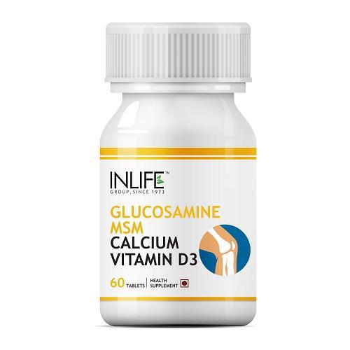 INLIFE Glucosamine MSM Calcium Vitamin D3 Tablets 60's