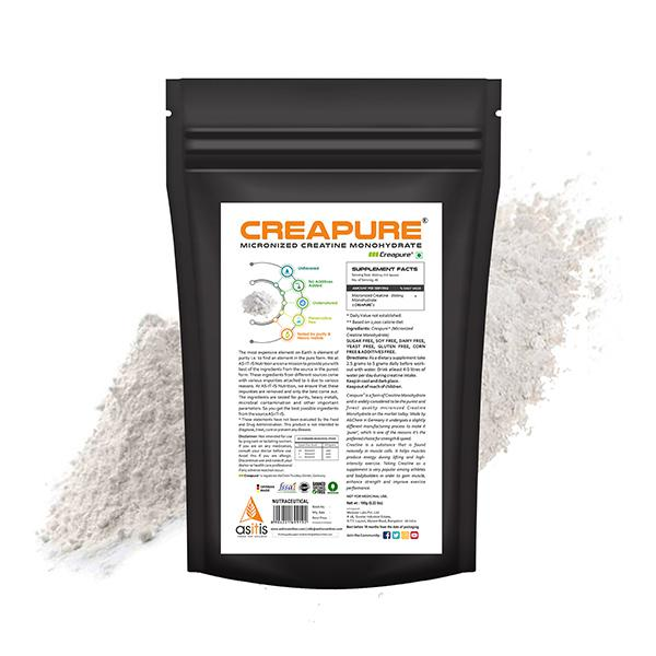 AS-IT-IS Nutrition Creapure (Micronized Creatine Monohydrate) Powder 100 gm