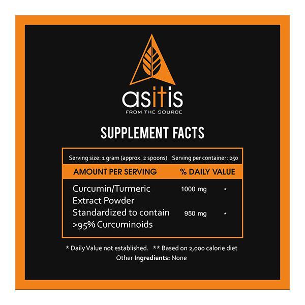 AS-IT-IS Nutrition Curcumin (Turmeric Extract) Powder 250 gm