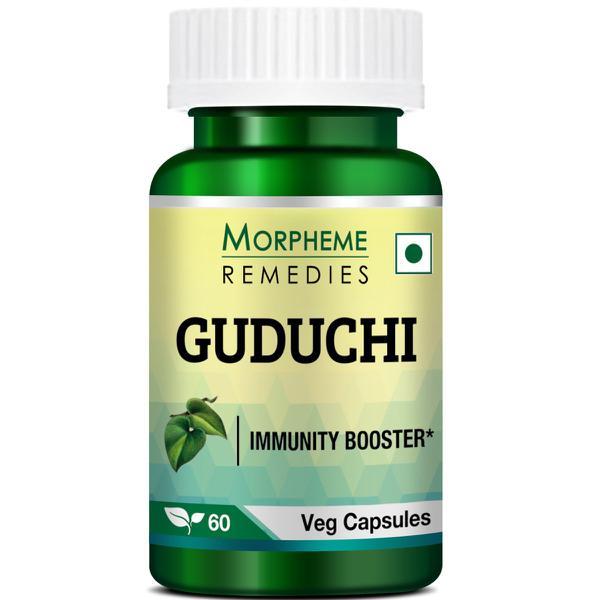 Morpheme Remedies Guduchi (Tinospora Cordifolia) 500mg Extract Veg Capsule 60's