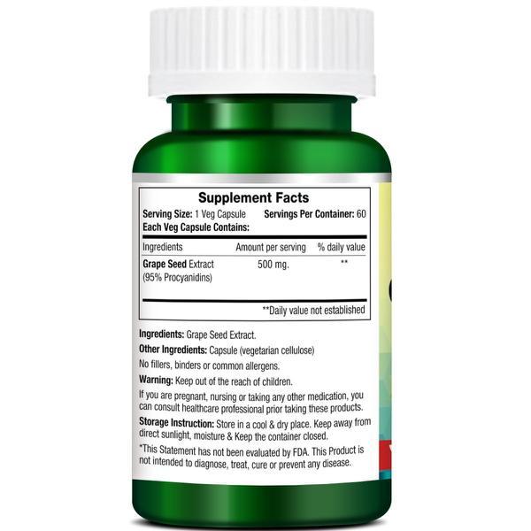 Morpheme Remedies Grape Seed 500 mg Veg Capsule 60's
