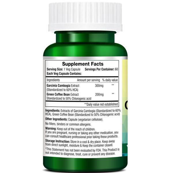 Morpheme Remedies Garcinia Green Coffee 500mg Extract 60's