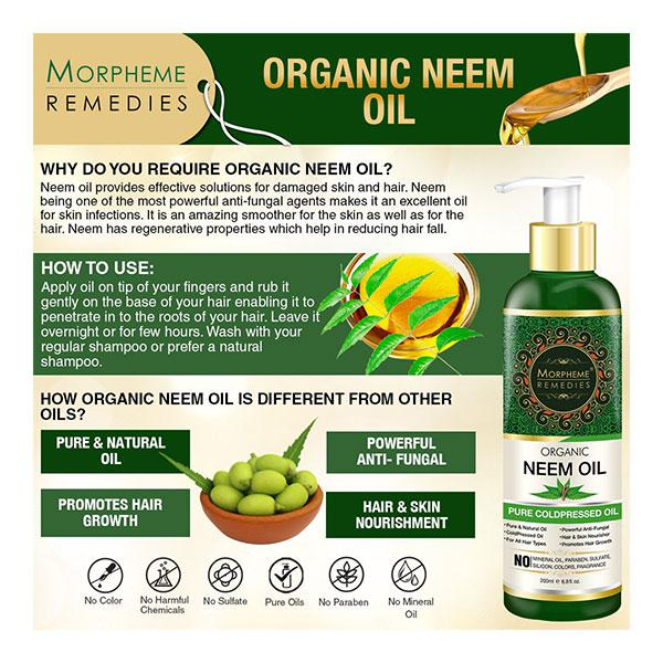 Morpheme Remedies Pure Organic Neem Oil (ColdPressed & Undiluted) 200 ml