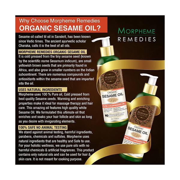 Morpheme Remedies Organic Sesame Oil 200 ml