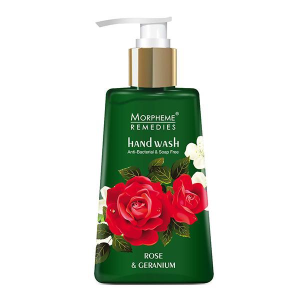 Morpheme Remedies Anti Bacterial Hand Wash - Rose & Geranium 250 ml