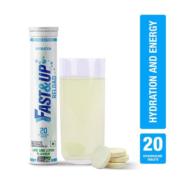 Fast&Up Reload Hydration Effervescent Tablet - Lime & Lemon Flavour 20's