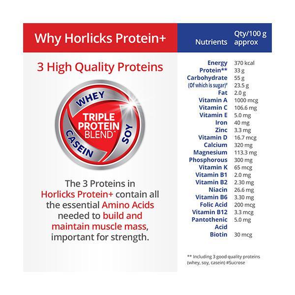 Horlicks Protein Plus powder - Chocolate Flavour 200 gm (Pet Jar)