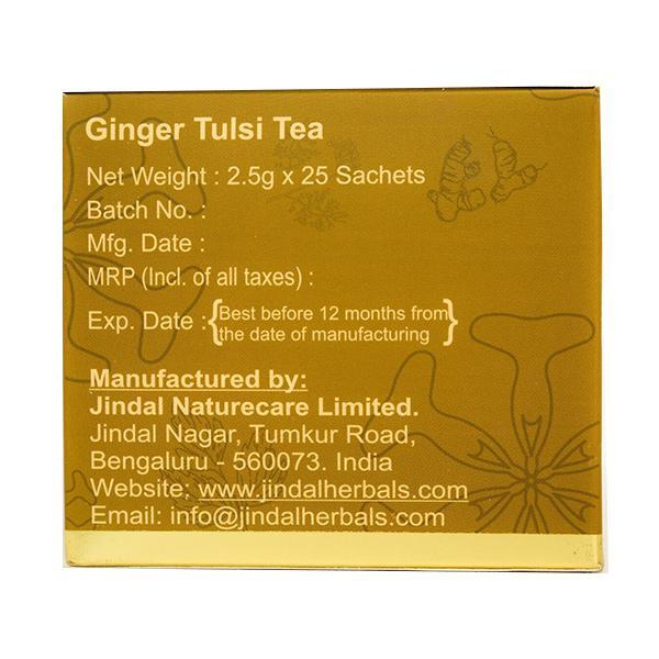 Jindal Herbal Tea Bag Sachets - Ginger Tulsi 25's