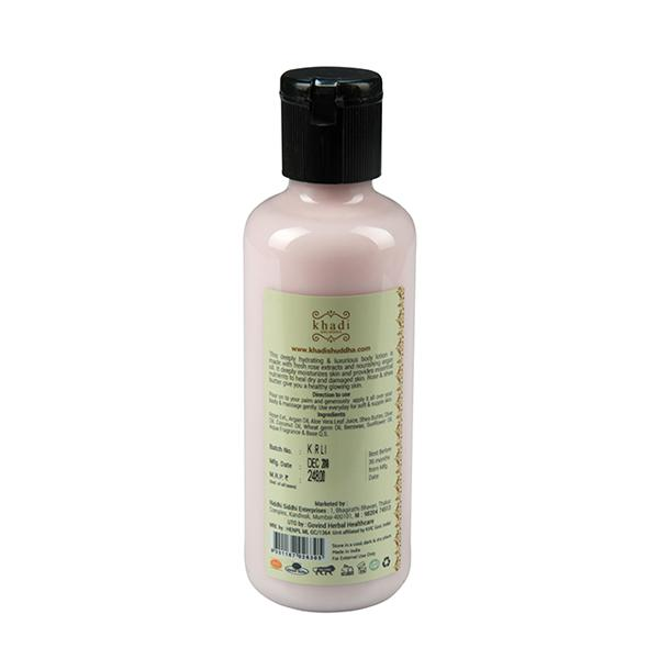 Khadi Shuddha Oil Moisturizer - Rose & Argan 210 ml