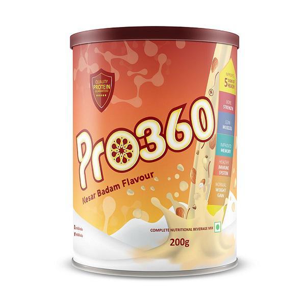 Pro360 Classic Nutritional Powder - Kesar Badam Flavour 200 gm
