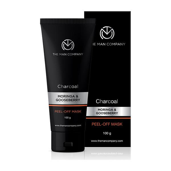 The Man Company Activated Charcoal Peel Off Mask - Moringa & Gooseberry 100 gm